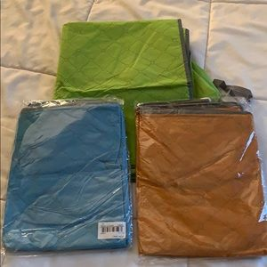 (3) Large Bamboo/Charcoal Cloth Storage Pouches